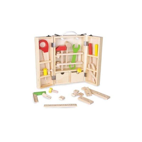 Дървено куфарче с инструменти